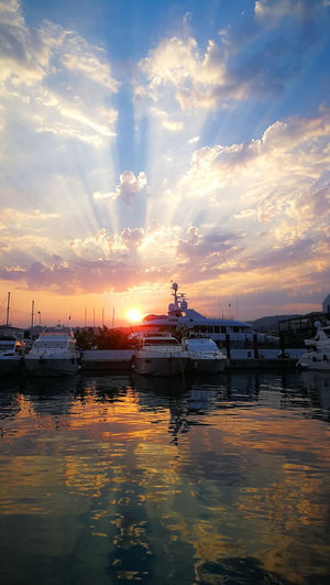 Reflection Nofilter Water Nautical Vessel Sea Sunset Beauty Beach Reflection Blue Business Finance And Industry Sky