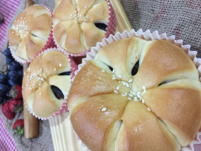 red bean bun Food Food And Drink Freshness Still Life Close-up Indoors  Indulgence Baked Ready-to-eat Sweet