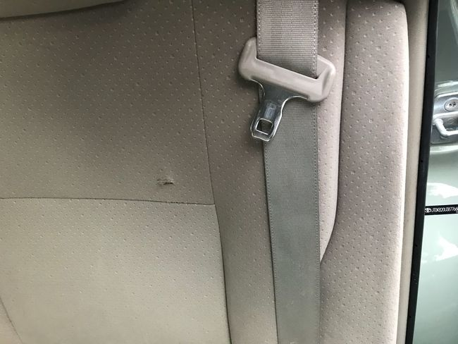 Bullet Hole In Car Seat EyeEm Selects Metal Indoors  Safety Protection Close-up Security