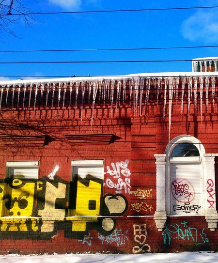 Architecture Graffiti Colorful Winter