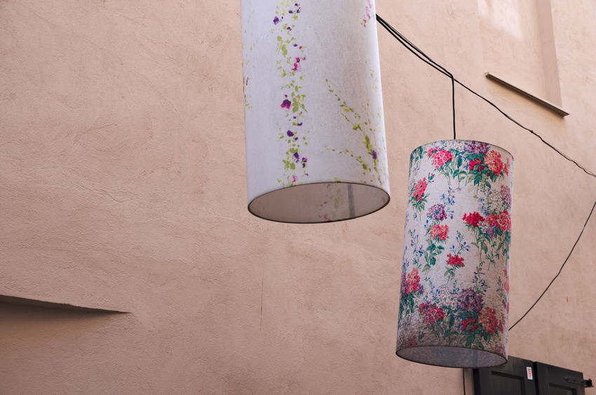 Lamps Day Lamp Multi Colored No People Outdoors Powder Paint Wires