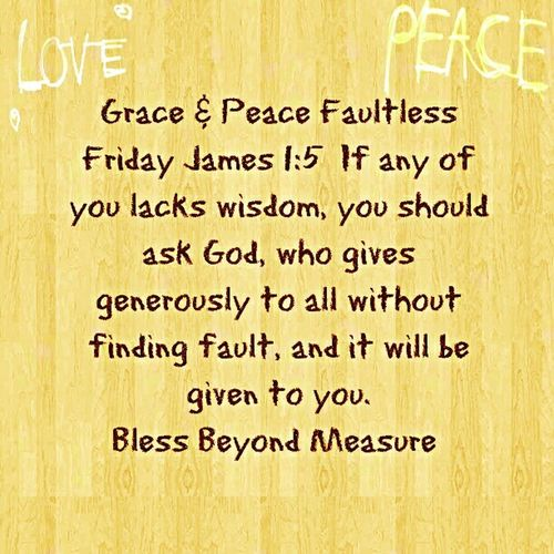 Grace & Peace Faultless Friday