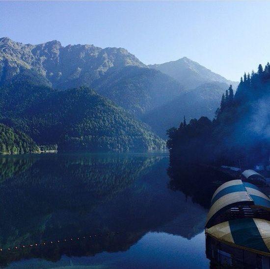 Атмосфера нереальная)Mountains Lake Riza