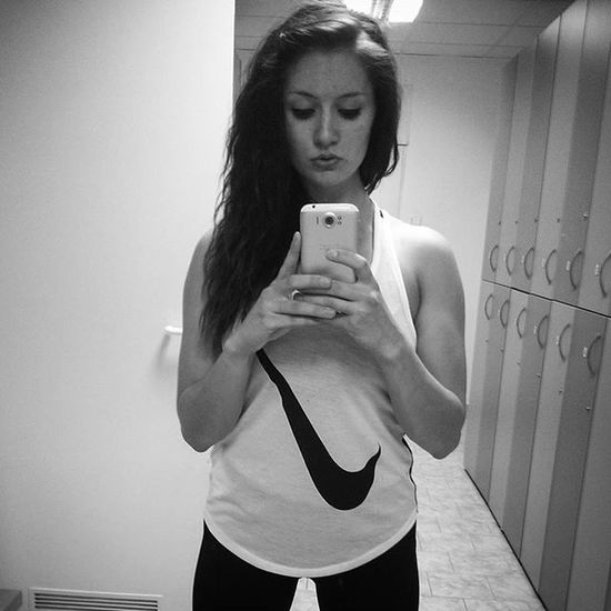 Me Czechgirl Czech Fitness Girl Gym Liberec GymLife Bodybuilding Fit Nikesportswear Nike Brunette Starting Diet Black White Fitgirl