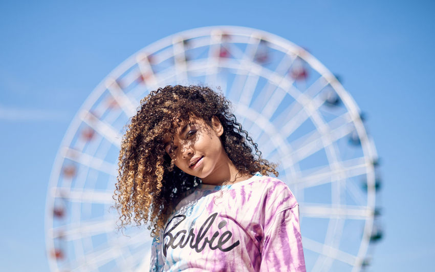 Festival by the Sea, model: Instagram @sandra01martin make-up and styling: Instagram @athenaldn Amusement Park Amusement Park Ride Arts Culture And Entertainment Child Curly Hair Ferris Wheel Front View Girls Hair Hairstyle Happiness Leisure Activity Lifestyles Nature One Person Outdoors Portrait Sky Smiling Women The Fashion Photographer - 2018 EyeEm Awards The Portraitist - 2018 EyeEm Awards