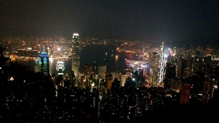2016.09.18 City Cityscape Night Modern Tall - High Sky City Life Hong Kong Harbour Hong Kong City Hong Kong Building Battle Of The Cities HongKong 太平山夜景🌃 Peak