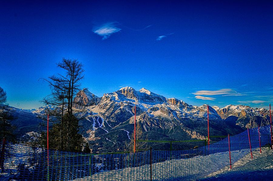 Dolomites, Italy Neve Beauty In Nature Blue Cold Temperature Day Inverno❄❄❄ Landscape Mountain Mountain Range Nature No People Outdoors Scenics Sky Snow Tranquil Scene Tranquility Tree Winter