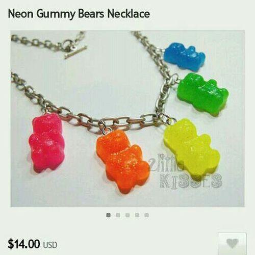 bear necklace Etsy 2littlekisses Necklace Gummy Bears