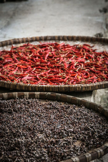 Red Spicy Tea Chilli Close-up Dried Dried Food Food Freshness Fruit Healthy Eating Hot Chillies Indoors  Ingredient Nepal Travel No People Pepper Red Red And Brown Selective Focus Snack Spice Spices Spices Of The World Still Life