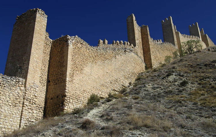 Architecture Built Structure Clear Sky Day Low Angle View No People Old Ruin Outdoors Sky SPAIN Albarracín Historic City Wall Fortress Crumbling Sunlight Going Up Steep Climb