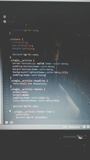 Code Poetry Webdevelopment The Art Of CSS kind of a Self Portrait