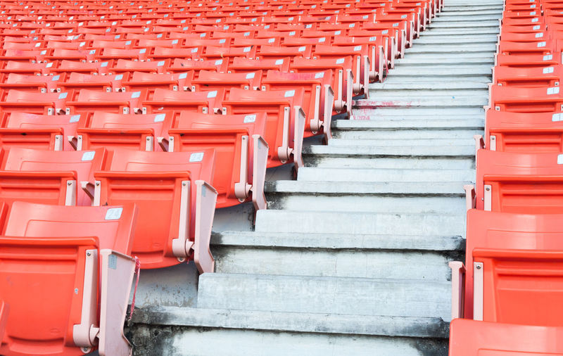 Empty seats in row