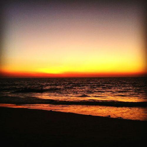 Beautiful and serene sunset at colva beach,Goa First Eyeem Photo