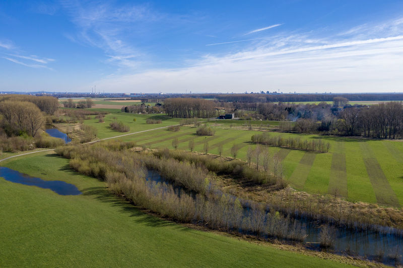 impressions from rural area, first spring days Day Nature Outdoors Dronephotography Aerial View Green Color Water Scenics - Nature Landscape Sky Tranquil Scene Cloud - Sky Land Plant Rural Scene Idyllic