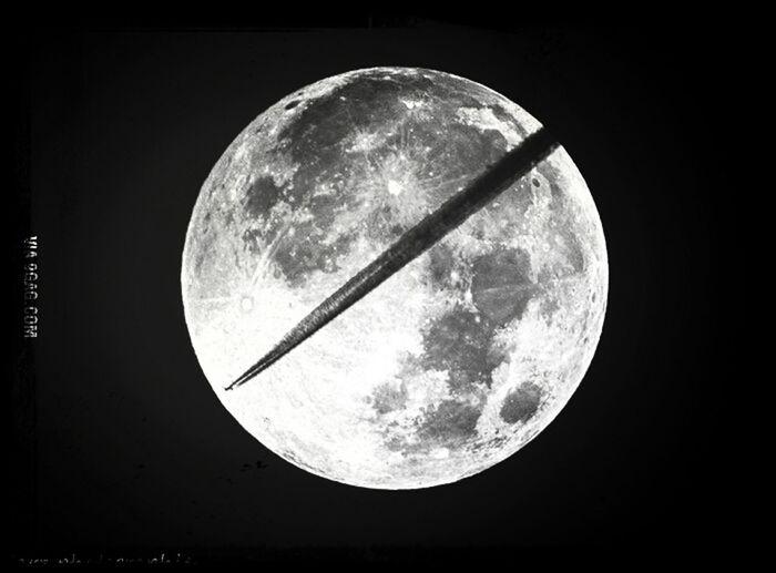 Beautiful moon. Moon Airplanes Wish Beautiful