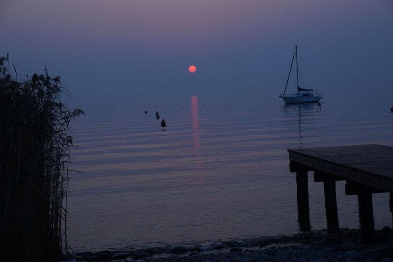 Lago Di Garda Beauty In Nature Nature No People Outdoors Scenics Sunset Water