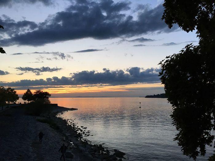 Sunset@bodensee Water Scenics Tranquil Scene Idyllic