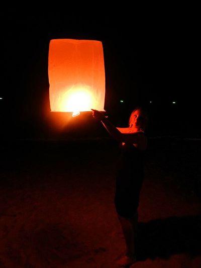 Thailand Koh Samui Light Fire NewYear Party Sonkran Festival Flying Balloons Romantic