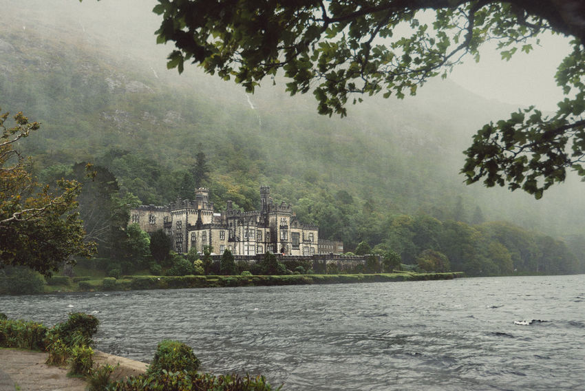 Architecture Architecture Beauty In Nature Building Exterior Built Structure Connemara Day Fog Foggy Growth Ireland Kylemore Abbey Lake Nature No People Outdoors Rain River Scenics Sky Tree Water Waterfront