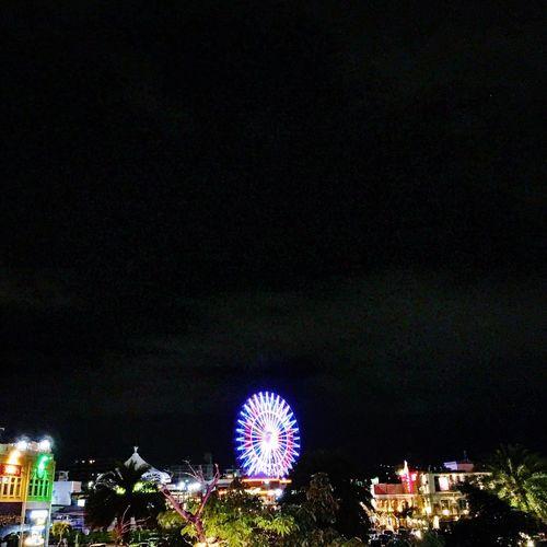 Okinawa American Village Night Wheel Observation Wheel Night Lights Night Light Darkness And Light Travel Sightseeing Japan