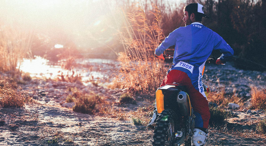 Motorbike Motocross Enduro Mx  Cross Sport Man Barber Suzuki Sx 450 Love Moto Thormx Racing Thor  Training French Sunset Landscape