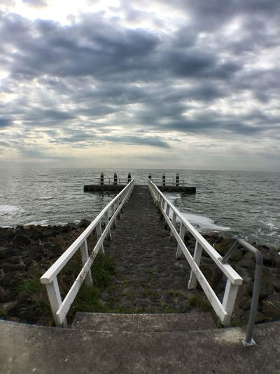 Clouds Pier Sea