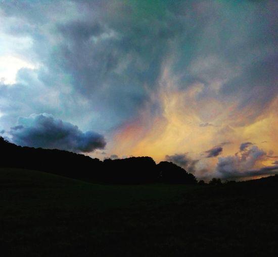 Sun Sky Clouds Dark Evening Sky Day