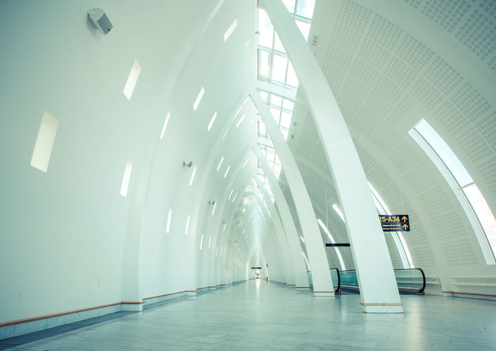 Absence Airport Airport Waiting Architecture Blue Built Structure Day Diminishing Perspective Empty Kastrup Kastrup Airport Kastrup Lufthavn Modern No People The Way Forward