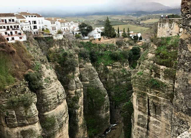 El Tajo , Ronda, Spain Vertigo Bandolero Bandido Architecture Built Structure Building Exterior House Old Town Day Travel Destinations History Outdoors Mountain Nature Tree Beauty In Nature No People Community Sky