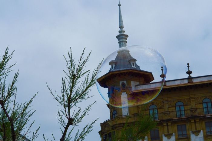Architecture Building Exterior Low Angle View Built Structure Outdoors Sky Day Religion No People Dome Place Of Worship Tree Spirituality Bubble Soapbubble