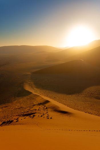Desert Dunes Namib Desert Namibia Orange Sesriem, Namibia Sossusvlei Africa Landscape Sand Sand Dune Sesriem
