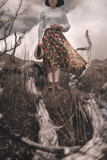The Portraitist - 2017 EyeEm Awards The Great Outdoors - 2017 EyeEm Awards One Person Field Women Cloud - Sky Lifestyles Beauty In Nature Colorful Colors EyeEm Best Shots EyeEmNewHere Mood Portrait The Fashion Photographer - 2018 EyeEm Awards