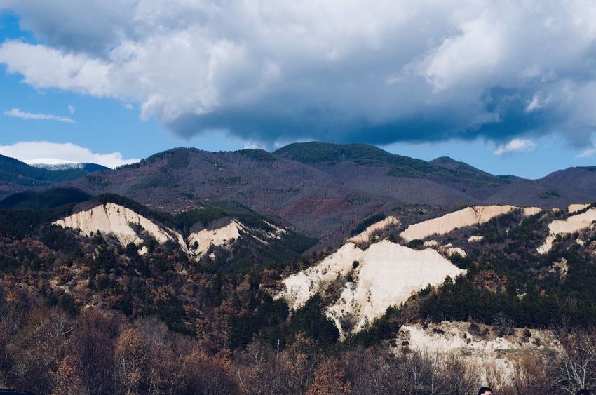 The famous pyramid mountains of Melnik Balkan Nature Photography Traveling Travel Photography Travel Destinations Travel Rozhen Beauty Natural Pyramid Bulgaria Mělnik Beauty In Nature Mountain Scenics Cloud - Sky Nature Tranquil Scene Tranquility Sky Landscape Day Outdoors Mountain Range No People Tree