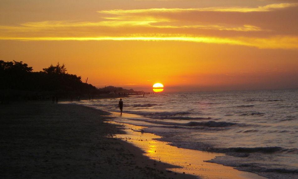 Cuba Cuban Beach Beach Beauty In Nature Cuba Beach Cuban Life Orange Color Outdoors Sky Sunset
