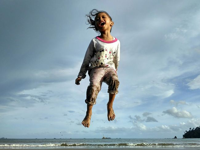 Feel free. Children Only Child One Girl Only Girls Childhood Happy :) Happiness Happy People Levitasi Levitasiku Levitation Photography Sky Blue Sky Blue Sea Xiaomiphotographyindonesia Xiaomimi4 Macrophonegraphy Sooc - Straight Out Of The Camera One Shot Photography Day People Vitality One Person Front View Full Length EyeEmNewHere Be. Ready. AI Now Capture Tomorrow Moments Of Happiness