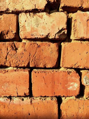 кирпич стена оранжевый