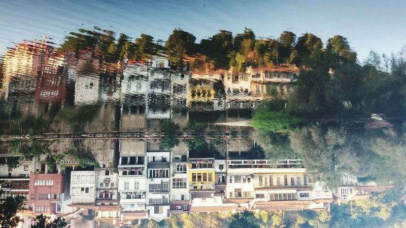Reverse photo Water Reflections Water River Houses Reverse Photo Amarante Hidden Gems