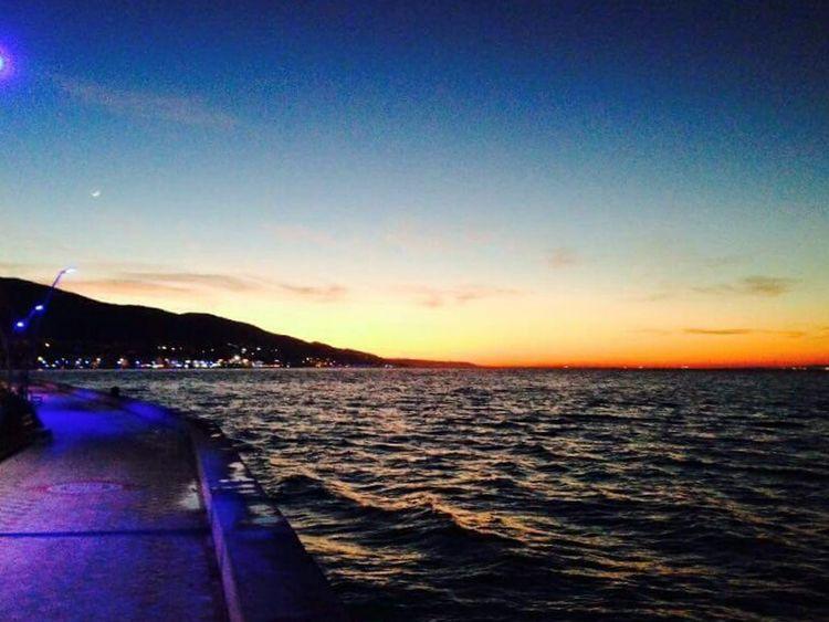 Izmit Gulf Kocaeli Degirmendere Sea Sea And Sunset Nonfilter Icecream Turkey