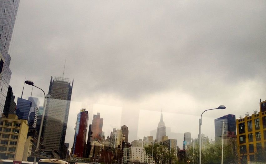 ...receding reflections... Distant Reflejos Reflection Cityscape City Manhattan New York City Window Cloudy Overcast