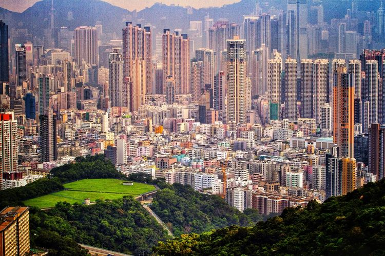 Hong Kong (other than typical harbour view) Hong Kong Hong Kong Architecture Vintage Style Skyline Cityscape City View  Density Backgrounds Multi Colored Full Frame Sky Architecture Close-up Pixelated Tranquil Scene Urban Scene Office Building Scenics Countryside