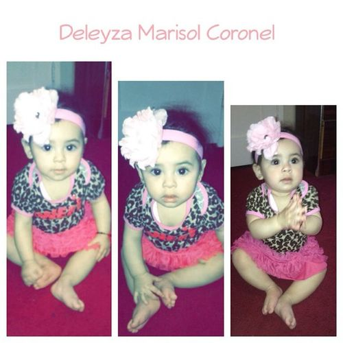 She's growing so fast 😘😱! Stop growing I want to stay how you are Mamas 😘💕! Sobrina Deleyza Marisol Coronel turning Nueve Mes Hoy / 9⃣Month today 👶💕😘! January 19 2015  Deleyza Marisol Coronel 👶💕😘 Nueve Mes ❤️
