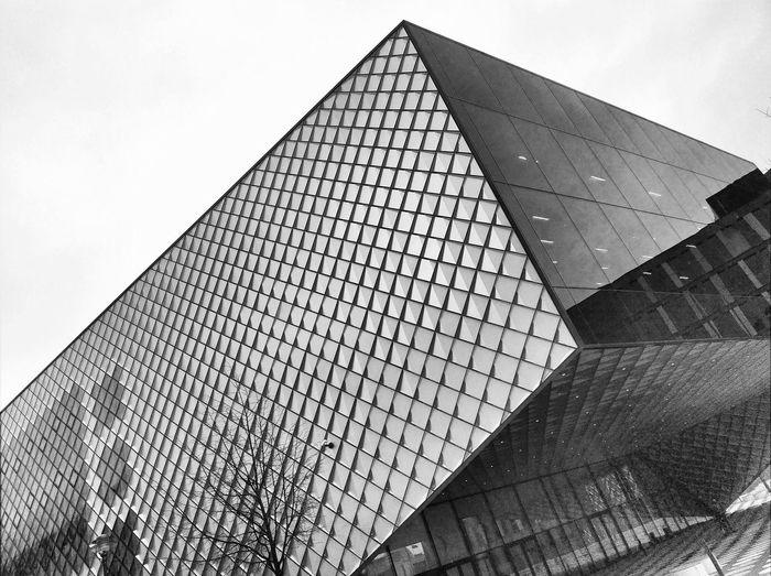 #architecture #berlin #b&w Blackandwhite B&w Berlin Architecture Modern Pattern Triangle Shape Steel Shape Geometric Shape Sky Building Exterior