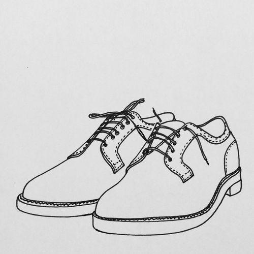 Alden Shoes Illustration croquis Men Fashion