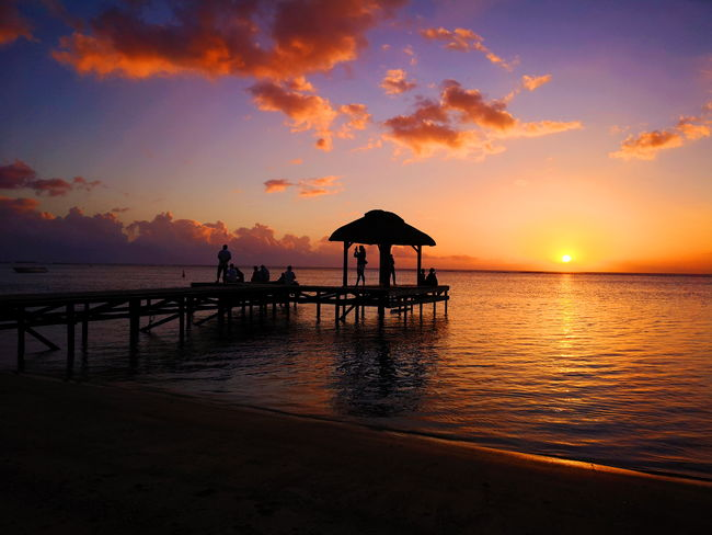 Mauritius Mauritius Island  Mauritius Beauty EyeEmNewHere Water Sea Sunset Beach Beauty Sand Backgrounds Relaxation Silhouette Sun