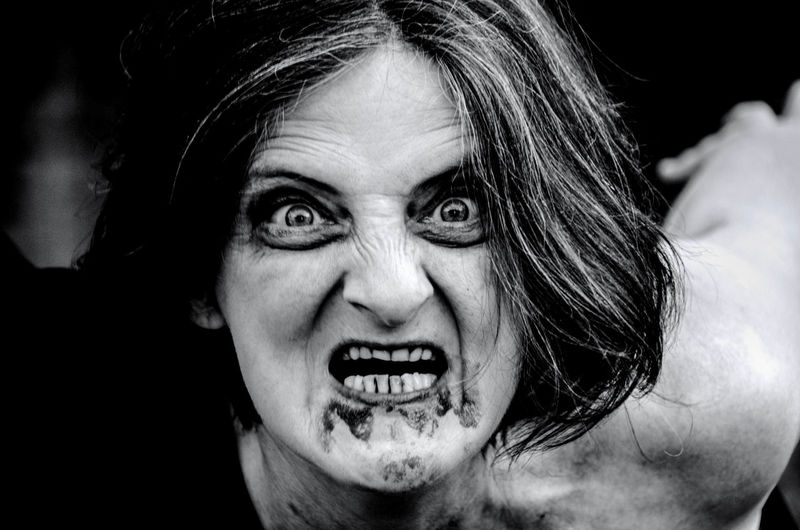Portrait Of Scary Woman