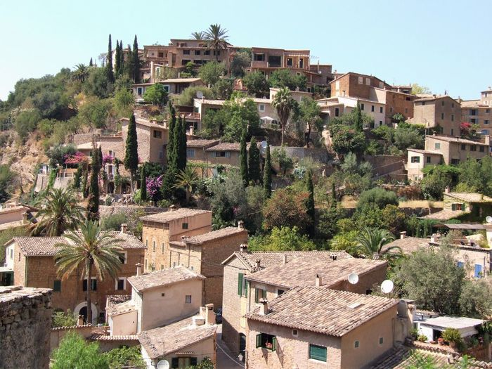 Deiá, Mallorca Mediterranean  Architecture Building Exterior Built Structure Tree Building Plant Residential District City Day House Town No People Sky Community High Angle View Sunlight Clear Sky TOWNSCAPE Tiled Roof  Rooftop Residential Structure Human Settlement Historic Settlement Old Town