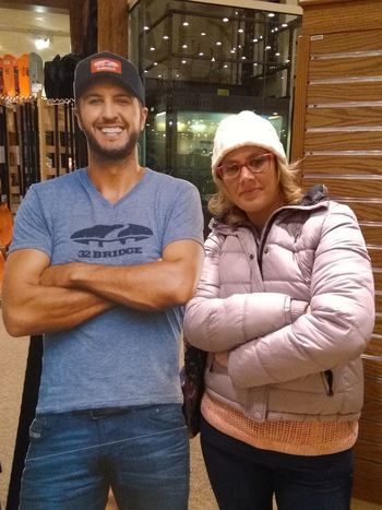 just me and my buddy Lukey. that's what I call him. lol LukeBryan Cabellas Two People Arms Crossed Lifestyles Portrait Building Exterior