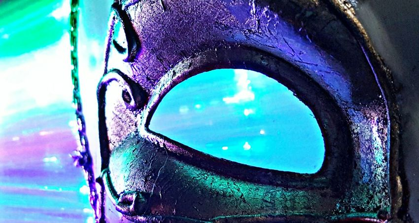 Dark Illusions 3 Atmospheric Mood Pastel Colors Carnival Eye Neon Lights Darkness And Light Mask Light Creative Selective Focus Fantasy Surrealism Edited Mysterious Art And Craft Still Life Composition Fine Art Photography Art Close-up Detail Fiber Optics The Culture Of The Holidays