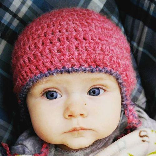 My sweet girl Love Pretty Beautiful Eyes BlueEyes Baby Babygirl Model Pink Crochet Etsyshop Willowbeeswonders DIY Crafty Craftymom Mom Heart TooCute Lovely Picoftheday Followme Spectacular_kidz Inlove Instababy Instapic