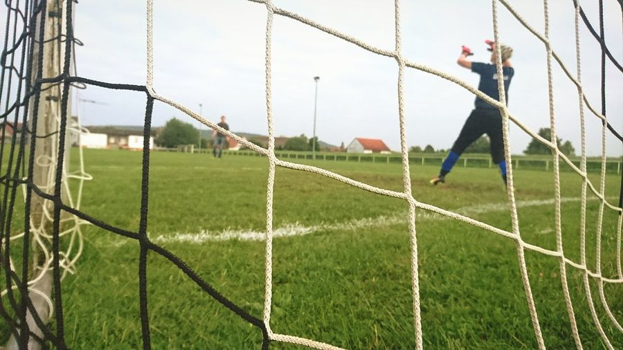Football keeper woman